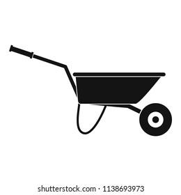 Farming wheelbarrow icon. Simple illustration of farming wheelbarrow vector icon for web design isolated on white background
