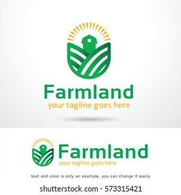 Farmland Logo Template Design Vector