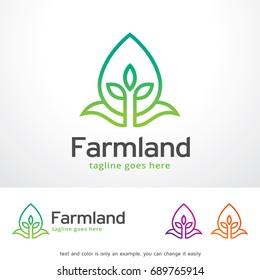 Farmland Logo Template Design Vector, Emblem, Design Concept, Creative Symbol, Icon