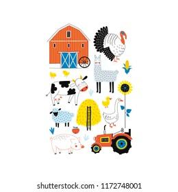 Farmyard poster, Farm graphics