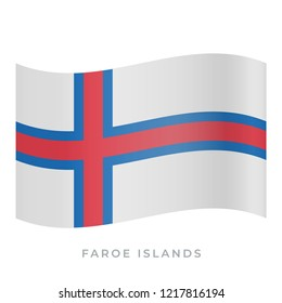 Faroe Islands waving flag vector icon. National symbol of Faroe Islands. Vector illustration isolated on white.