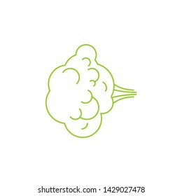 Fart Green gas isolated. Farting Vector texture