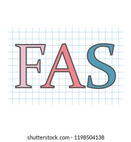 FAS (fetal alcohol syndrome) acronym written on checkered paper