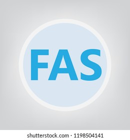 FAS (fetal alcohol syndrome) acronym- vector illustration