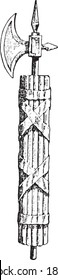 Fasces, From the Dictionary of Word and Things, 1888.
