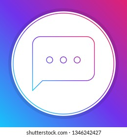 Fashian stail gradient New Message, Dialog, Chat Speech Bubble Notification icon vector