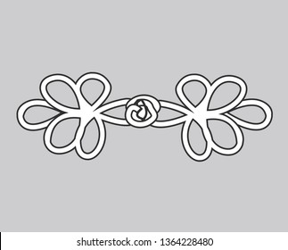 fashion accessories design fashion accessories design abstract floral shapes icon. sign design vector. illustration. on white Knot Frog Closure Button