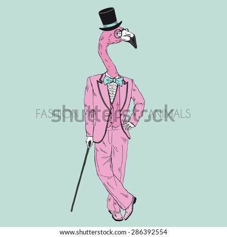 Fashion Animal Illustration Anthropomorphic Design Furry Stock ... 2a7e3ad1eede