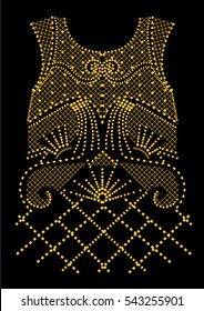 Fashion apparel embellishment in vector.