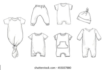 Baby Onesie Drawing Images Stock Photos Vectors