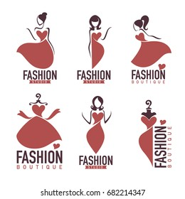 fashion and beauty salon, studio, boutique logo and emblem collection