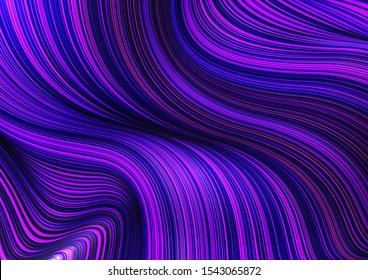 Fashion blue poster thin lines locks luxury design. Liquid wave shiny lines hair fashion background. Beautiful flowing drape textiles thin threads hair illustration vogue blue threads drape banner set