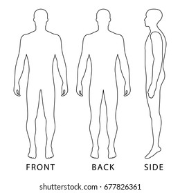 Body Template Outline Standing Images Stock Photos Vectors Shutterstock