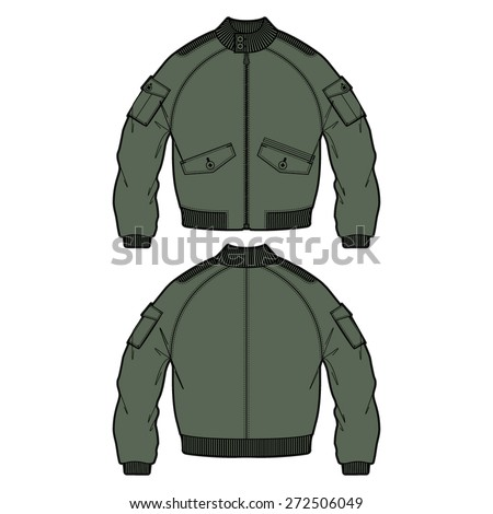 fashion bomber jacket vector outdoor apparel stock vector royalty
