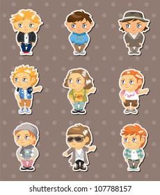 fashion boy stickers