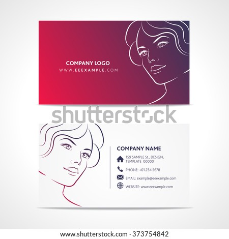 Fashion business card template stock vector royalty free 373754842 fashion business card template fbccfo