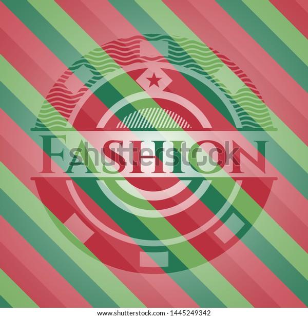 Fashion christmas emblem background. Vector Illustration. Detailed.