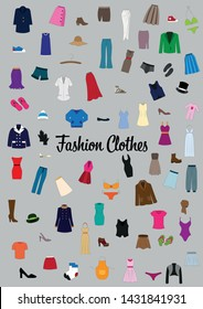 Fashion clothes and beautiful accessories