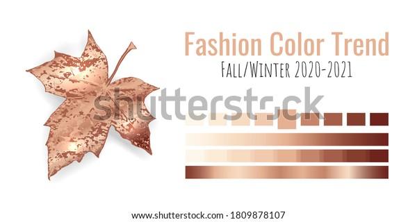 Fashion Color Trend Fallwinter 20202021 Colour Stock Vector Royalty Free 1809878107