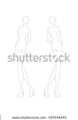 Fashion croquis fashion figure fashion model stock vector royalty fashion croquis fashion figure fashion model template maxwellsz