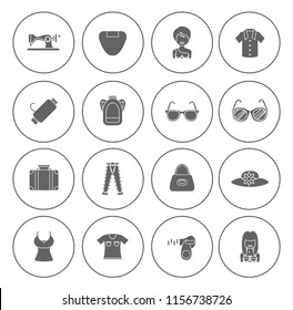 Fashion design icons set - vector woman clothes and accessories - shopping icons illustrations collection