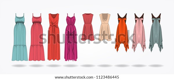 Fashion Design Illustration Template Clothes Design Stock Vector Royalty Free 1123486445