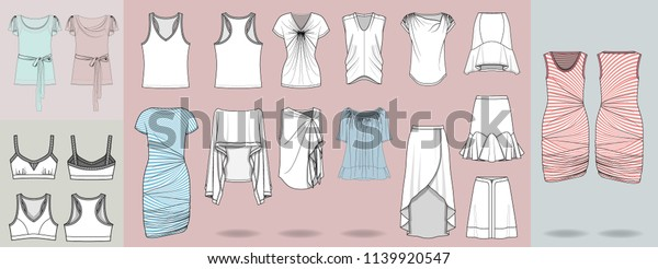Fashion Design Illustration Template Garments Clothing Stock Vector Royalty Free 1139920547