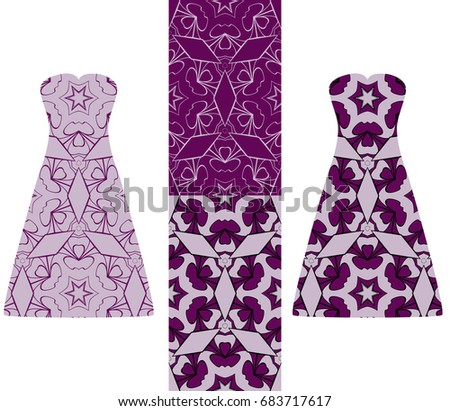 fashion design template dress geometric pattern stock vector