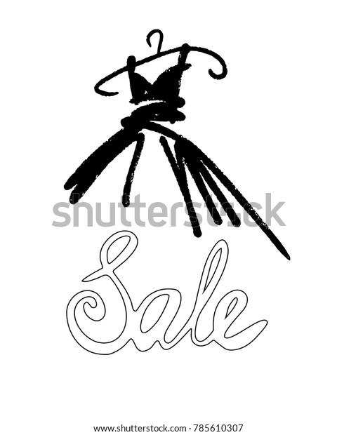 Fashion Design Vector Illustration Hand Drawn Stock Vector Royalty Free 785610307