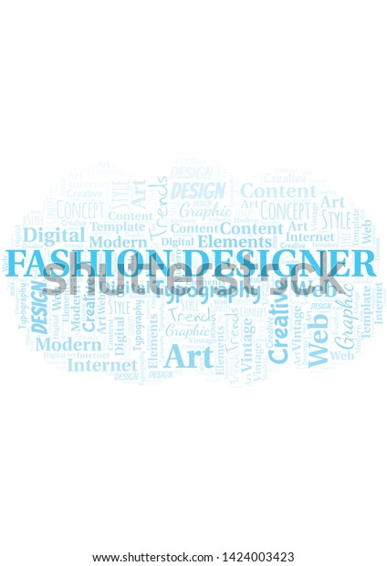 Fashion Designer Word Cloud Wordcloud Made Stock Vector Royalty Free 1424003423