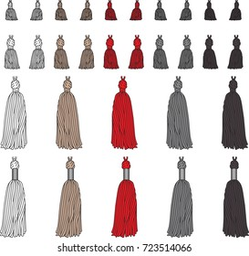 Fashion Elements: Basic Tassels Vector Illustration