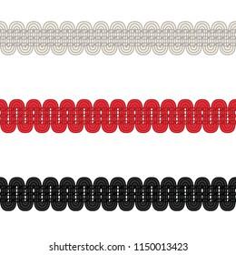 Fashion Elements: Basic Upholstery Trim Vector Illustration