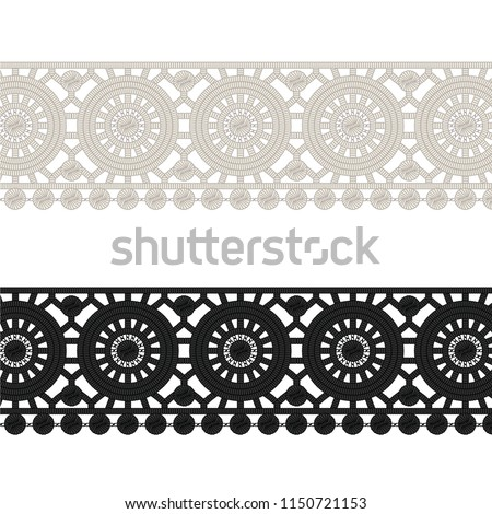 47da8b662e Fashion Elements Crochet Lace Circles Trim Stock Vector (Royalty ...