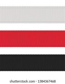 Fashion Elements: Gros-Grain Ribbon Trim Vector Illustration