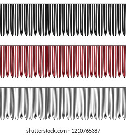 Fashion Elements: Medium Fringe Trim Vector Illustration