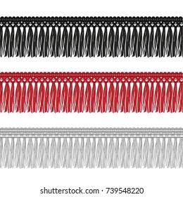 Fashion Elements: Novelty Tassel Fringe Gimp Trim Vector Illustration