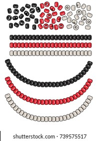 Fashion Elements: Round Seed Beads Vector Illustration