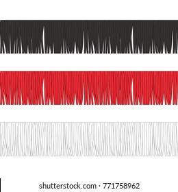 Fashion Elements: Thick Fringe Trim Vector Illustration