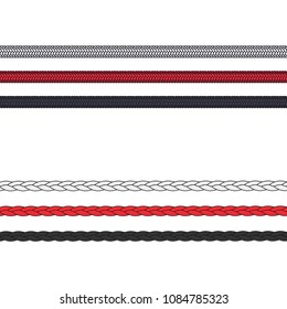 Fashion Elements: Woven Cord & Braided Trim Vector Illustration