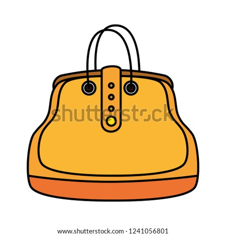 Fashion Feminine Handbag Icon Stock Vector (Royalty Free) 1241056801 ... 6ffa4bf3c2