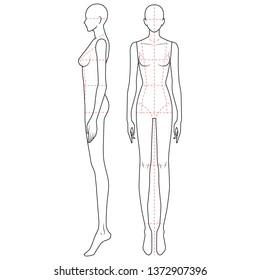 Fashion Figure Template Images, Stock Photos \u0026 Vectors