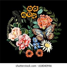 fashion flowers embroidery 2