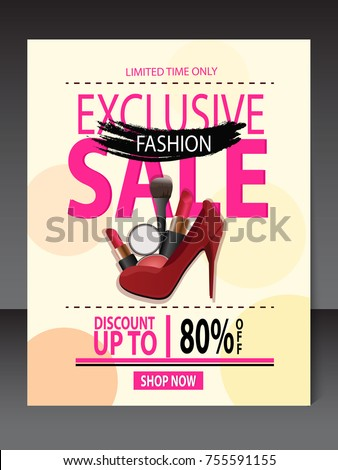 Fashion Flyers Design Templates Fashion Flyers Stock Vector Royalty