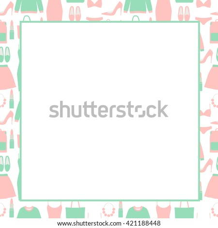 fashion frame template your text shopping stock vector royalty free