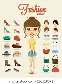 Fashion girl with fashion accessories