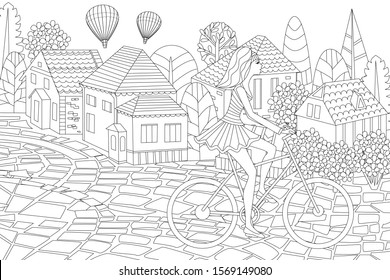 Travel Coloring Page High Res Stock Images Shutterstock