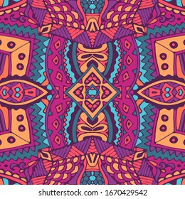 Fashion gypsy ethnic pattern colorful. Geometric doodle ornament