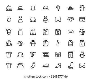 fashion hand drawn icon set , designed for web and app