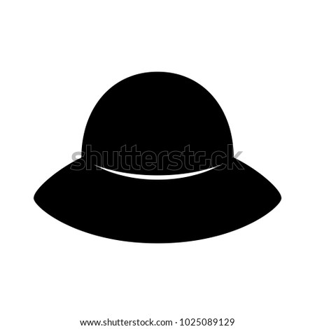 Fashion Hat Womens Black Hat Lady Stock Vector Royalty Free