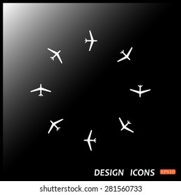 Fashion Icon Aircraft. icon. vector design